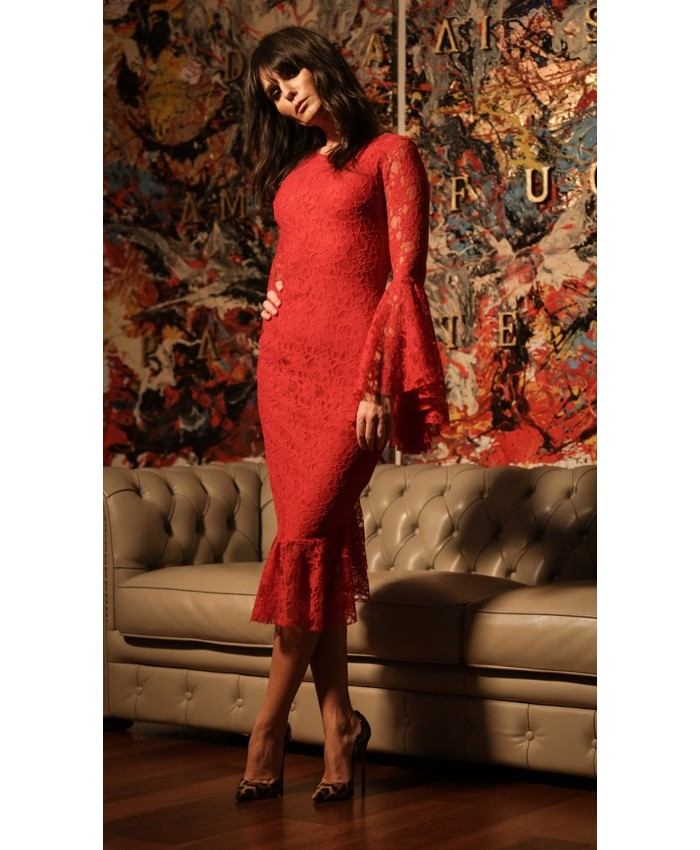 Lace Bell Spine Dress